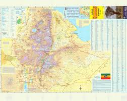 Travel Maps Large Detailed Topographical Road And Travel Map Of Ethiopia