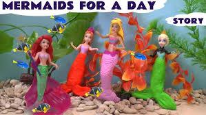 frozen princess anna elsa kids barbie play doh ariel