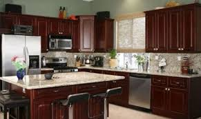 kitchen best paint colors for kitchen with cherry cabinets blue