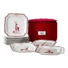 country estate reindeer plates set 12