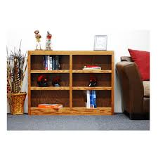 concepts in wood midas double wide 6 shelf bookcase in cherry