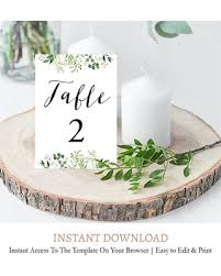wedding table numbers template amazing deal on greenery wedding table numbers template rustic