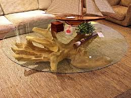 coffee table with tree base tree stump coffee table with round