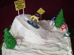 snow ski cakes and this type of cake i was pretty happy with