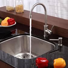 granite countertop brushed stainless steel sinks kitchen