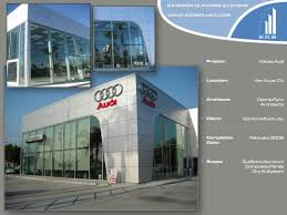 audi dealership exterior ecs usa