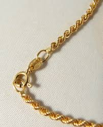 gold chain necklace rope images Sold twisted rope chain in 18k solid gold stamped fancy link rope jpg