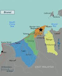 Asia Political Map Large Political Map Of Brunei Brunei Large Political Map