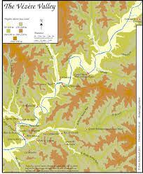 Dordogne France Map by Map Of The Vezere Valley For Archeology Teachers And Students