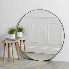 chiltern thin metal round mirror mirrors the white company uk