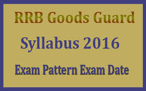 exam pattern of goods guard rrb goods guard syllabus 2016 exam date railway goods guard paper