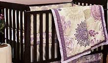 Dahlia Crib Bedding Purple Baby Crib Bedding Purple Nursery Decor