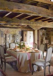 french country dining room ideas with wooden roof and armless