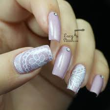 romantic freehand lace nail art lucy u0027s stash