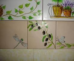 simple ceramic tile painting ideas adding artworks to interior