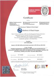 bureau v itas certification certificate madlener produktionssysteme gmbh co kg in baindt
