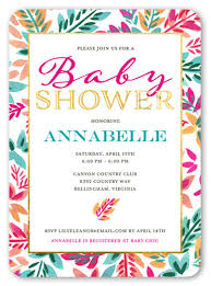 baby for baby shower floral shine girl 5x7 card baby shower invitations shutterfly