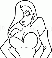 how to draw jessica rabbit easy step by step characters pop