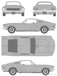 1968 mustang dimensions the blueprints com blueprints cars ford ford mustang