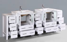Basin Sink by Contemporary 84 Inch White Basin Sink Bathroom Vanity Set With Mirror