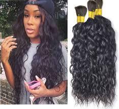 box braids with human hair 7a brazilian virgin hair natural wave curly human braiding hair