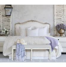 eloquence sophia queen headboard silver antique white two tone