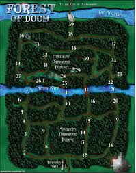 The Forest Map Actual Forest Of Doom Map Yogscast