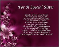 personalised for a special sister poem birthday christmas gift