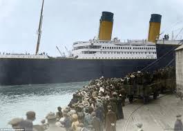 titanic colour photographer colours black white pictures
