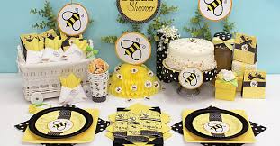 bumble bee baby shower theme baby shower gift table decorations bumble bee baby shower supplies