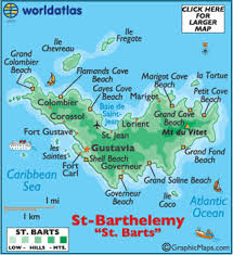 map of st barts map geography of barts map of barts