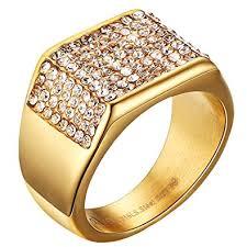 men wedding ring mens wedding bands vintage 316l stainless steel gold engagement