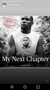 Kevin Durant Memes - kd turns my next chapter meme on self after team lebron pick