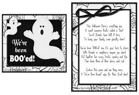 free printable halloween treat bag labels it u0027s written on the wall 16 versions you u0027ve been booed fun