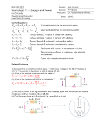 best images of series parallel circuit worksheet and circuits