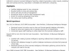 Data Management Resume Sample Business Intelligence Resume Sample Samples Delightful Business