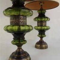 rare vintage stunning hollywood regency pair of two green table