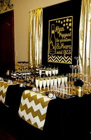 Bridal Shower Decor by Gold And Black Party Champagne Bridal Shower Lillian Hope