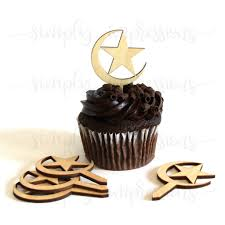 moon cake topper 6 crescent moon and cake topper for ramadan and eid