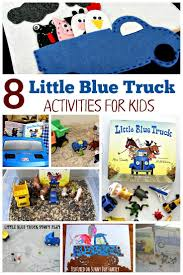 8 little blue truck activities for preschoolers sensory play