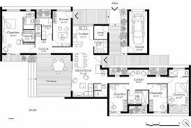 plan maison 4 chambres chambre lovely plan maison 4 chambre plain pied high resolution