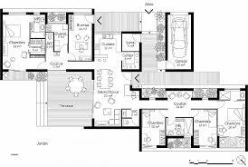plan de maison plain pied 4 chambres chambre lovely plan maison 4 chambre plain pied high resolution