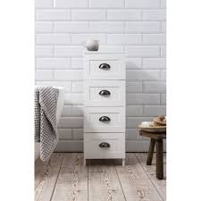 4 drawer stow bathroom cabinet in white noa u0026 nani