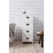 Storage Unit Bathroom 4 Drawer Stow Bathroom Cabinet In White Noa Nani