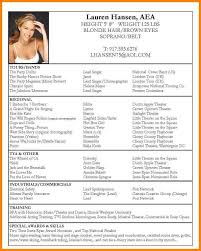 Talent Resume Examples by Actor Resume Template Billybullock Us
