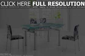 stunning glass dining room tables with extensions contemporary