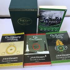 j r r tolkien lord of the rings hobbit boxed set 1997 green case
