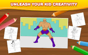 superhero kids coloring games android apps on google play