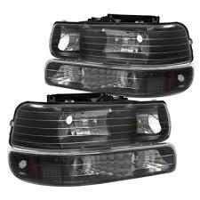 2005 chevy silverado 2500hd tail lights chevy silverado 3500 2001 2002 black headlights set and led tail