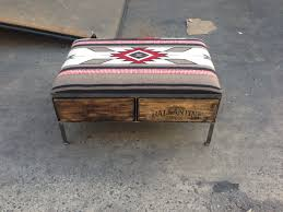 navajo blanket ottoman by uber chic home vintage crate ottomans